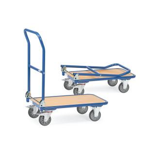 Carro de transporte con plataforma y tirador plegable 249B14942