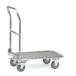 Carro con tirador plegable y plataforma de aluminio 249B14944