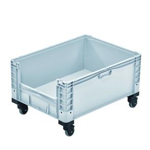 Contenedor plástico con ventana y ruedas 327B48685