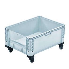 Contenedor plástico con ventana y ruedas 327B48688