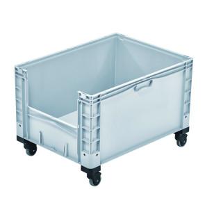 Contenedor plástico con ventana y ruedas 327B48687